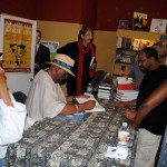 Randy Weston & Willard Jenkins at the September 25 book signing at Eso Won Books in L.A.