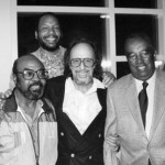 With NEA Jazz Masters Ray Brown, James Moody, and the great photographer Herman Leonard.