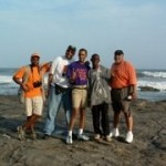 "The production crew for the documentary film ""The Forts & Castles of Ghana"""